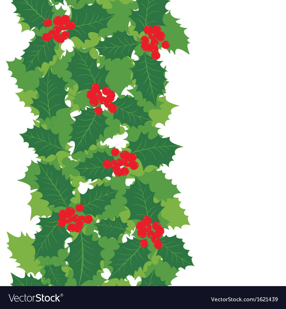 Holly leaves background vector | Price: 1 Credit (USD $1)