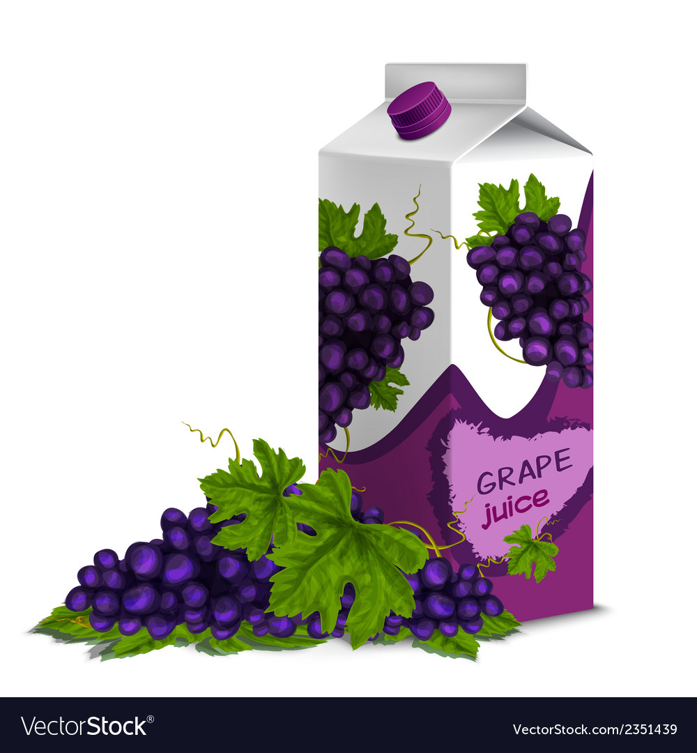 Juice pack grape vector | Price: 1 Credit (USD $1)