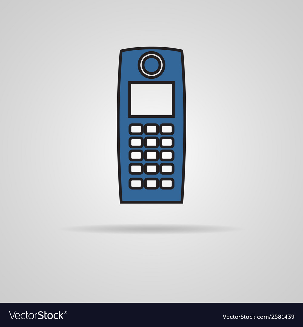 Old mobile phone vector | Price: 1 Credit (USD $1)