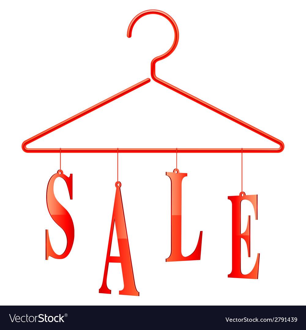 Sale hanger vector | Price: 1 Credit (USD $1)