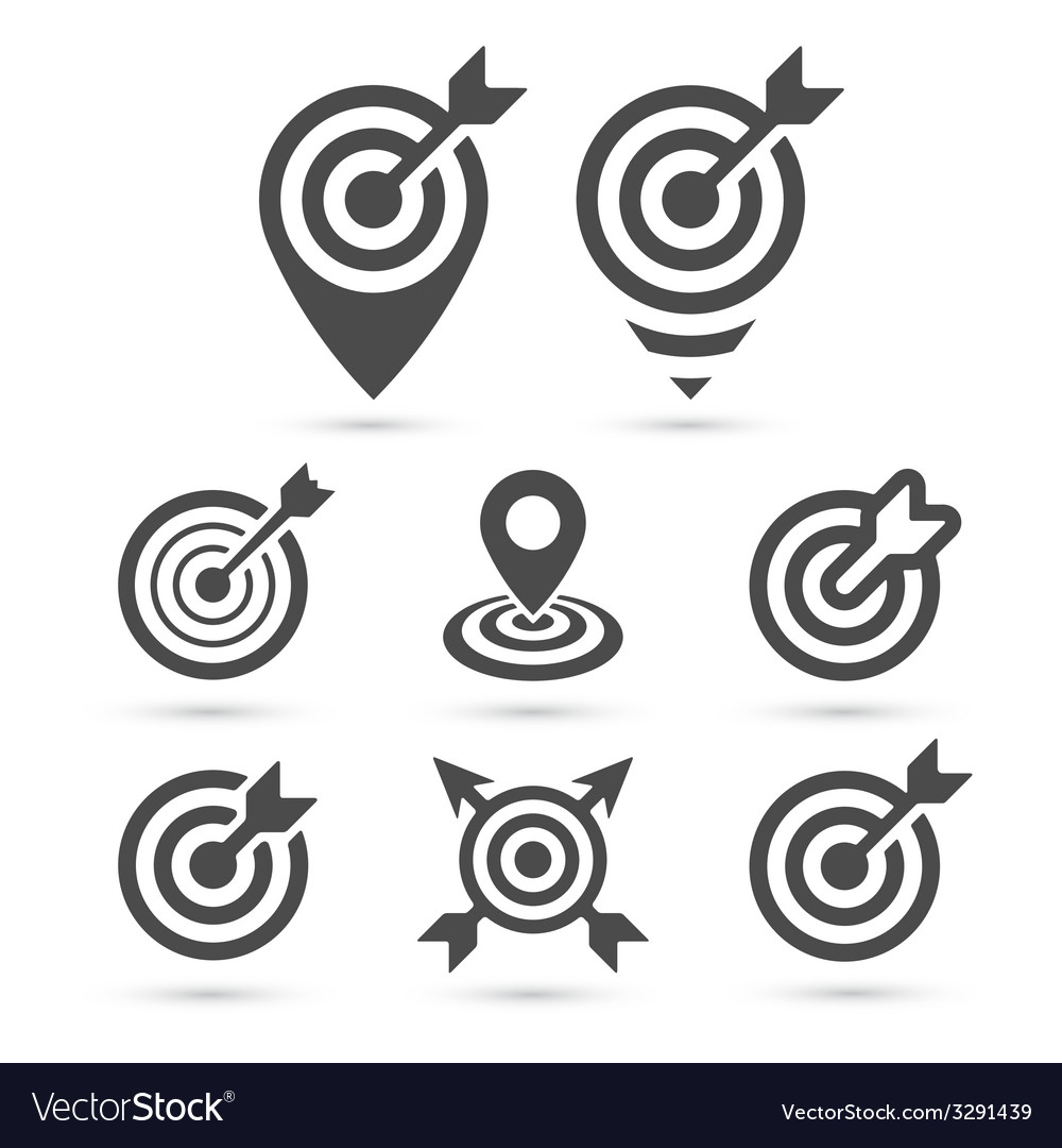 Trendy target icon for business and interface vector | Price: 1 Credit (USD $1)