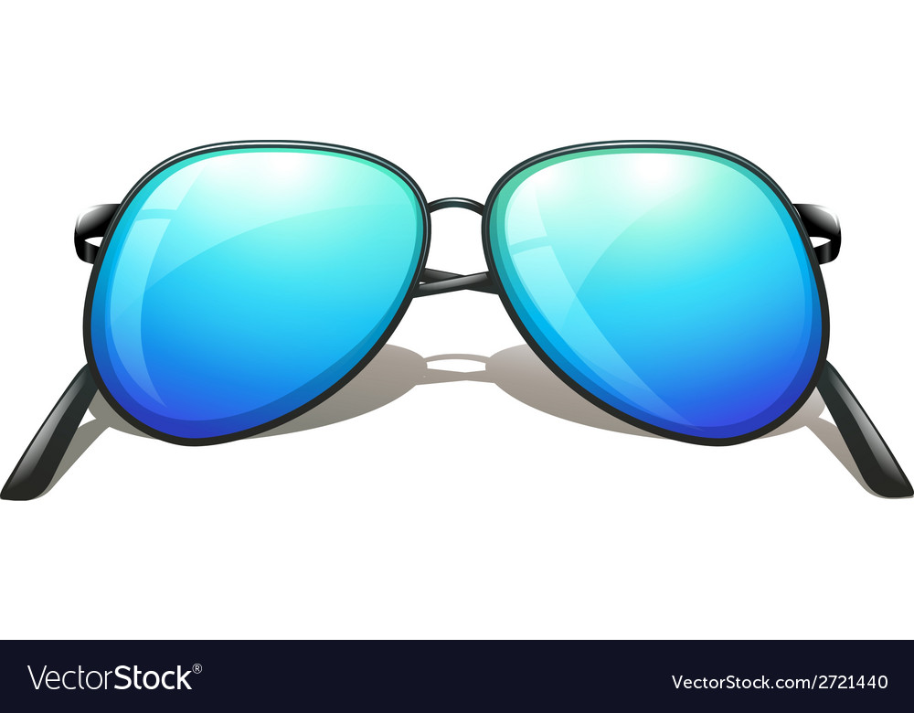 A blue sunglasses vector | Price: 1 Credit (USD $1)