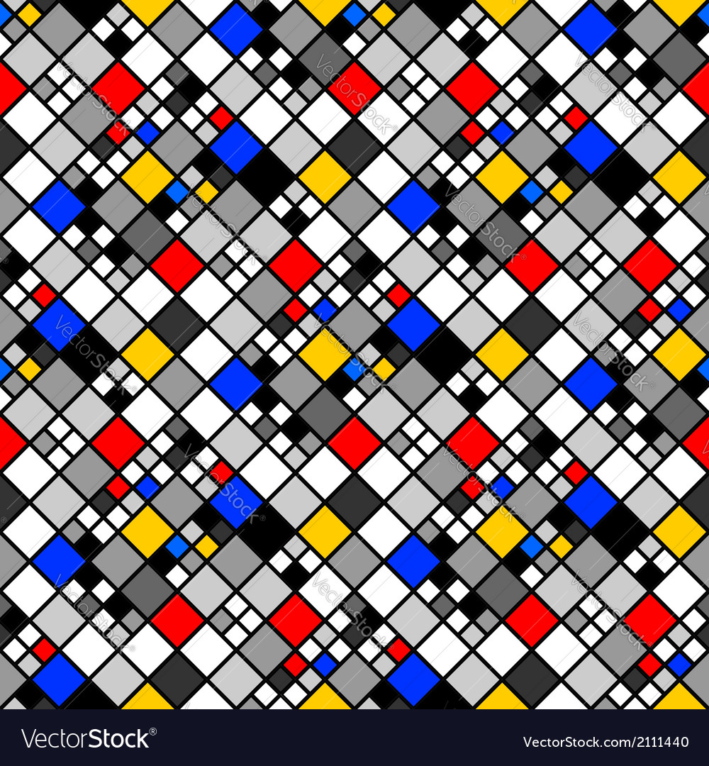 Design seamless colorful mosaic pattern vector | Price: 1 Credit (USD $1)