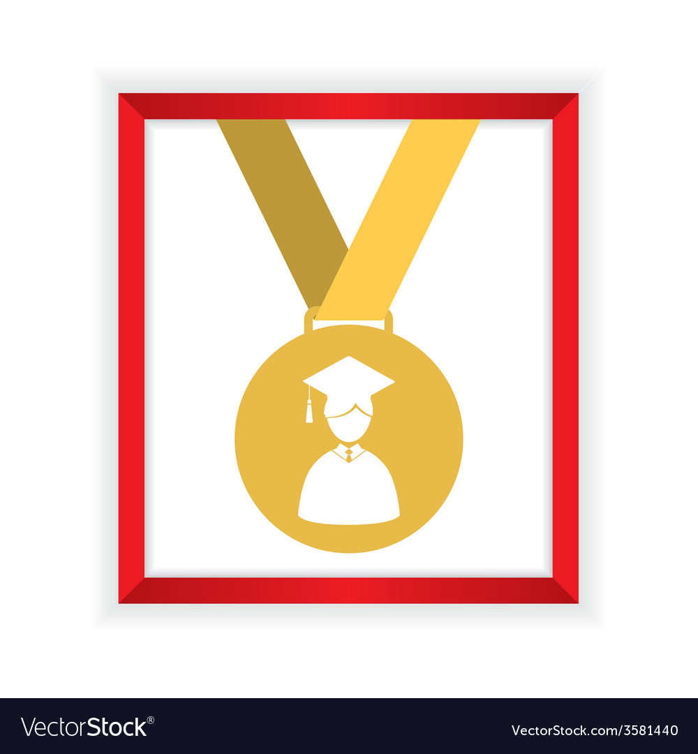 First class honors gold medal graduation vector | Price: 1 Credit (USD $1)