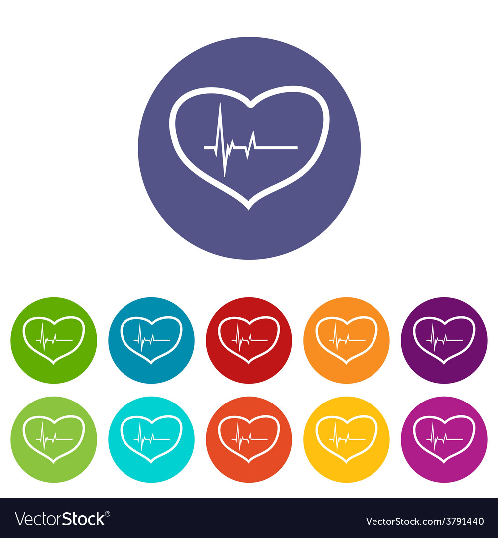 Heartbeat flat icon vector | Price: 1 Credit (USD $1)