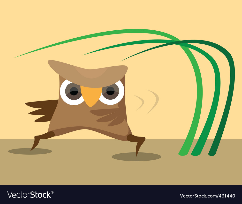 Karate owl vector | Price: 1 Credit (USD $1)