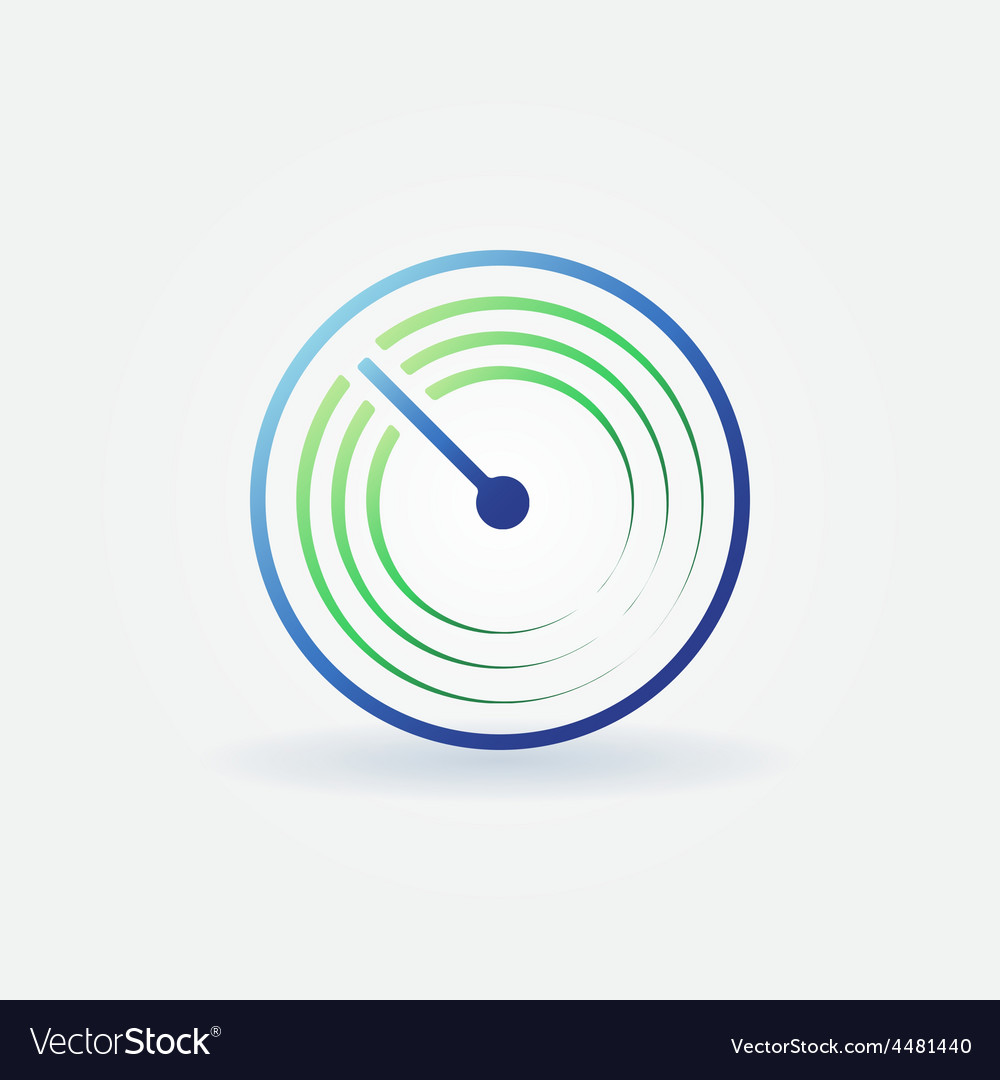 Radar bright icon vector | Price: 1 Credit (USD $1)