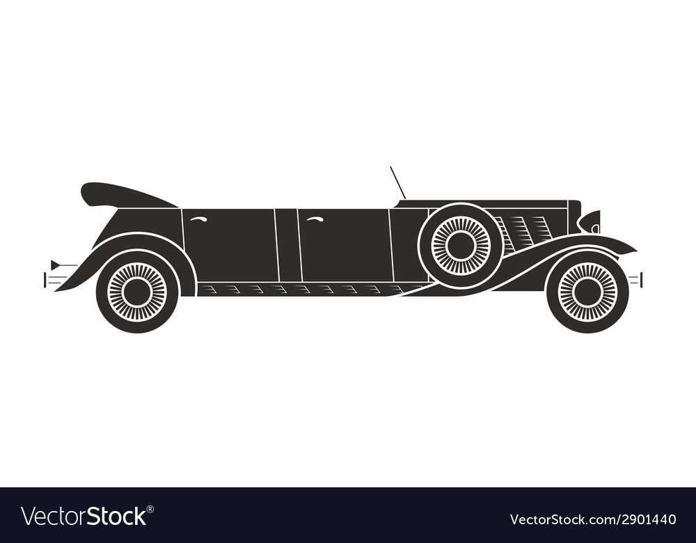 Retro limousine cabriolet car vintage collection vector | Price: 1 Credit (USD $1)