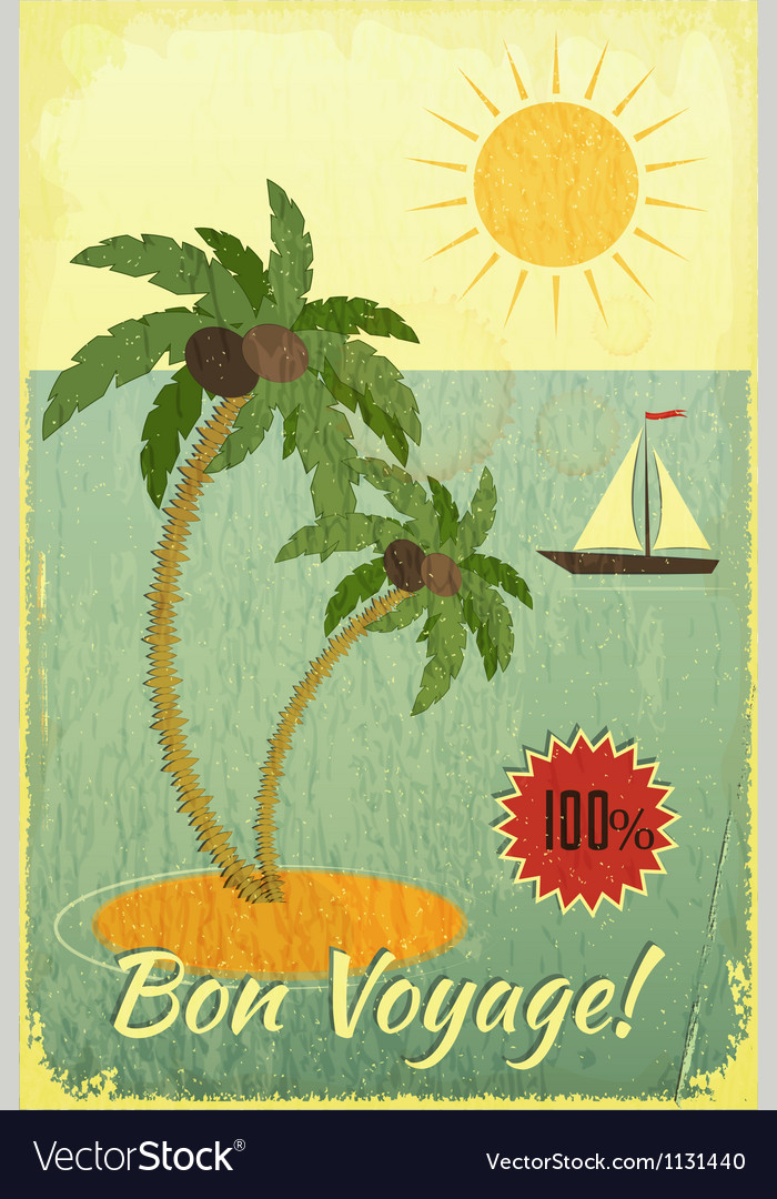 Retro vintage grunge travel postcard vector | Price: 1 Credit (USD $1)
