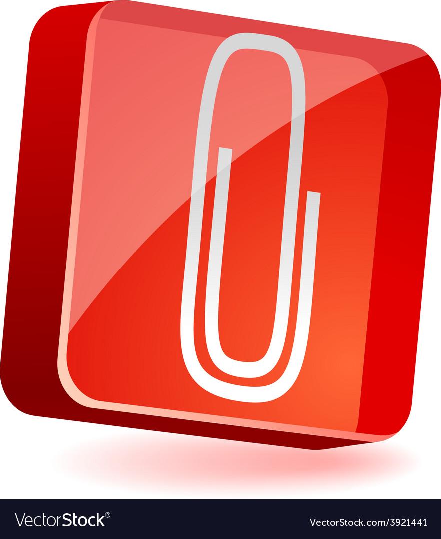 Attach icon vector | Price: 1 Credit (USD $1)