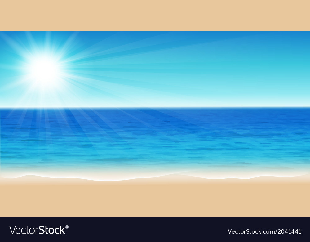 Beautiful sea vector | Price: 1 Credit (USD $1)