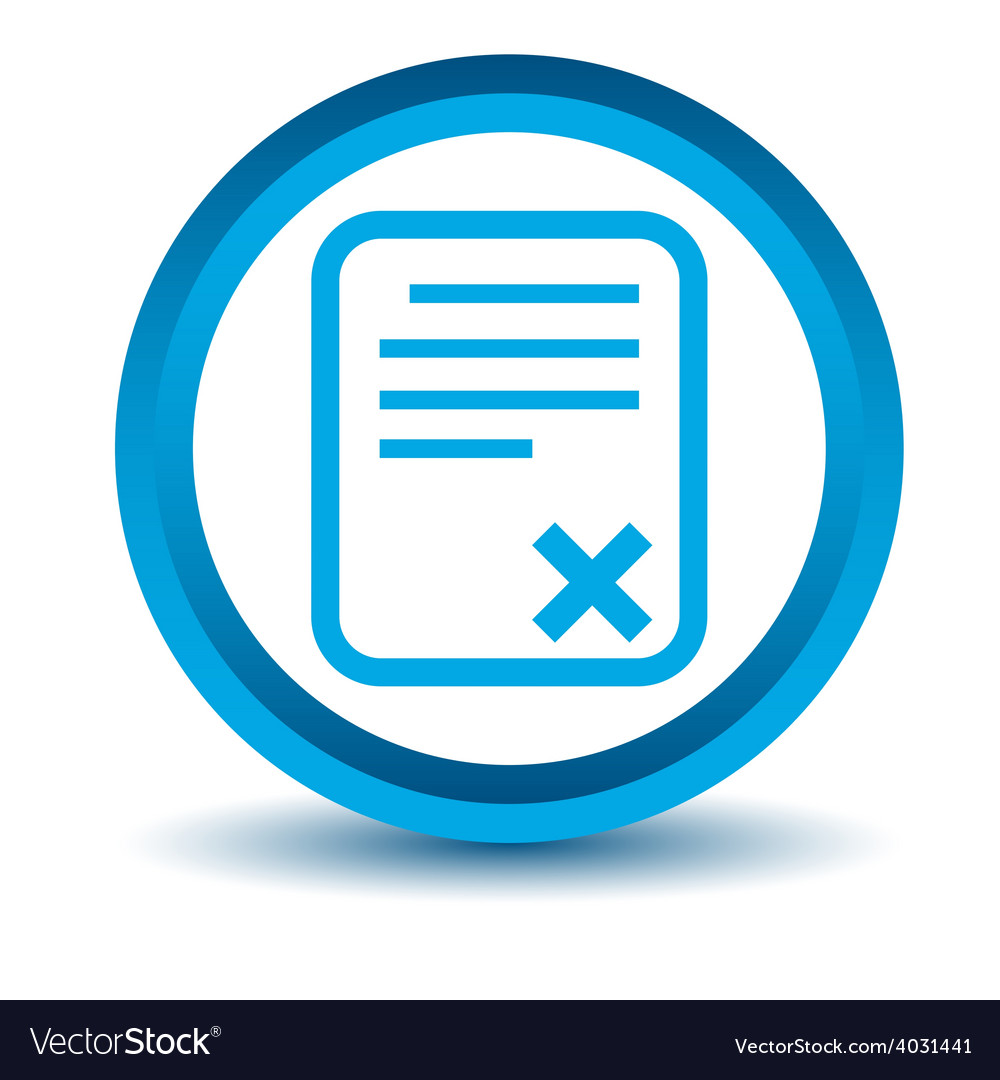 Blue bad document icon vector | Price: 1 Credit (USD $1)