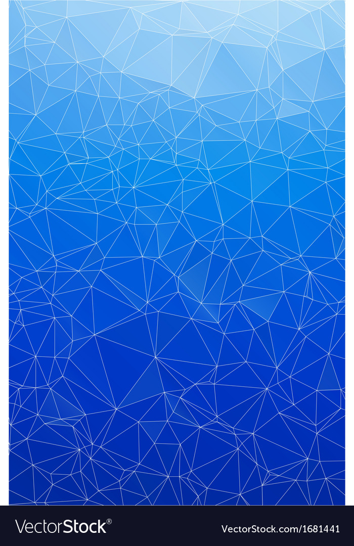 Blue ice abstract background polygon vector | Price: 1 Credit (USD $1)