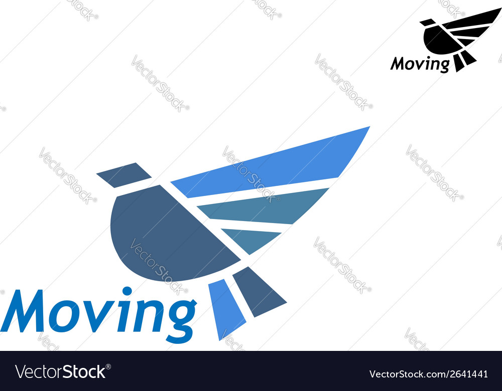 Blue pigeon icon vector | Price: 1 Credit (USD $1)