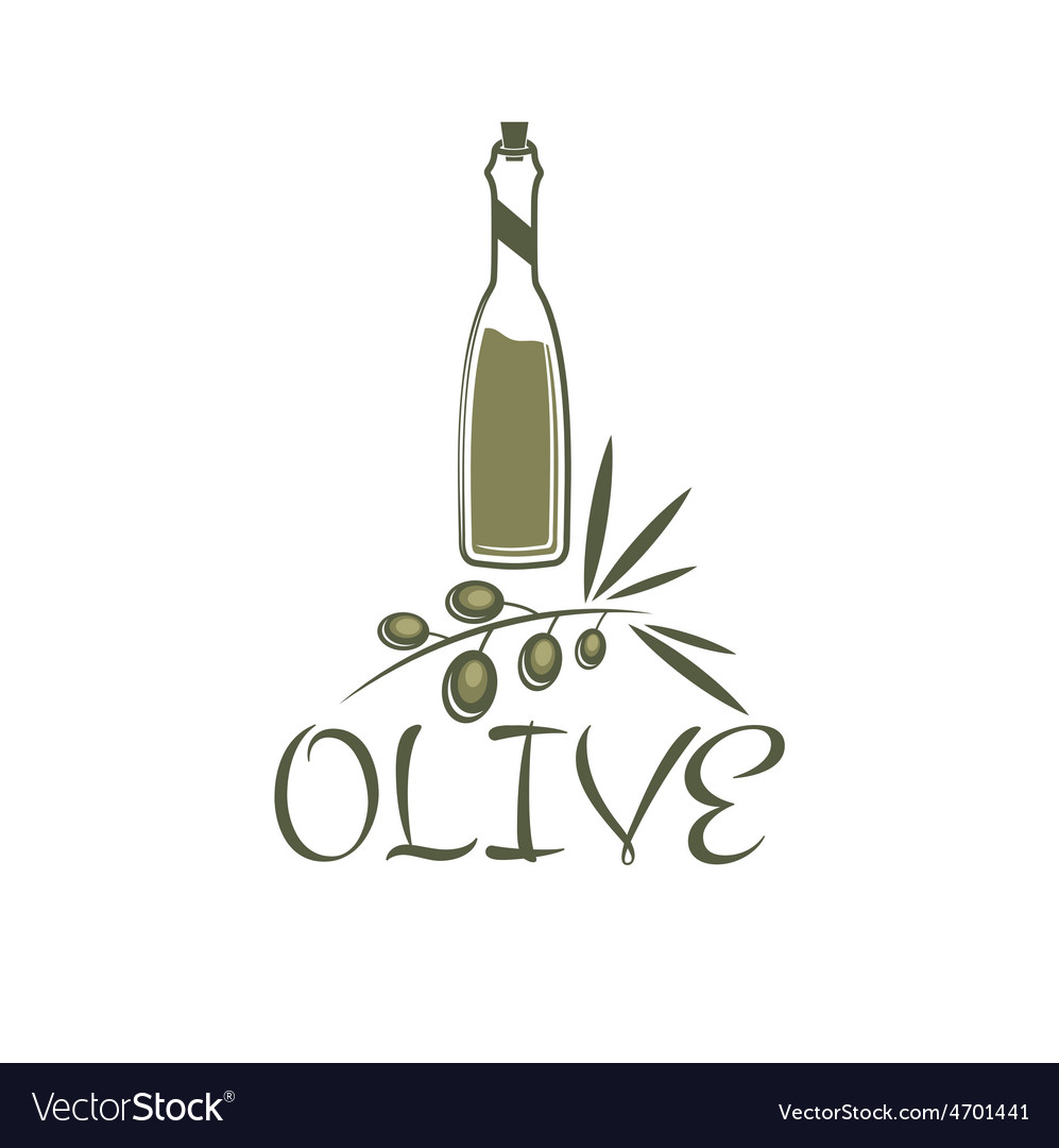 Branch of olives and a bottle of olive oil vector | Price: 1 Credit (USD $1)