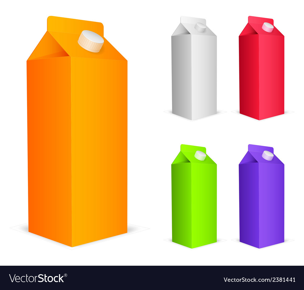 Color juice packs vector | Price: 1 Credit (USD $1)