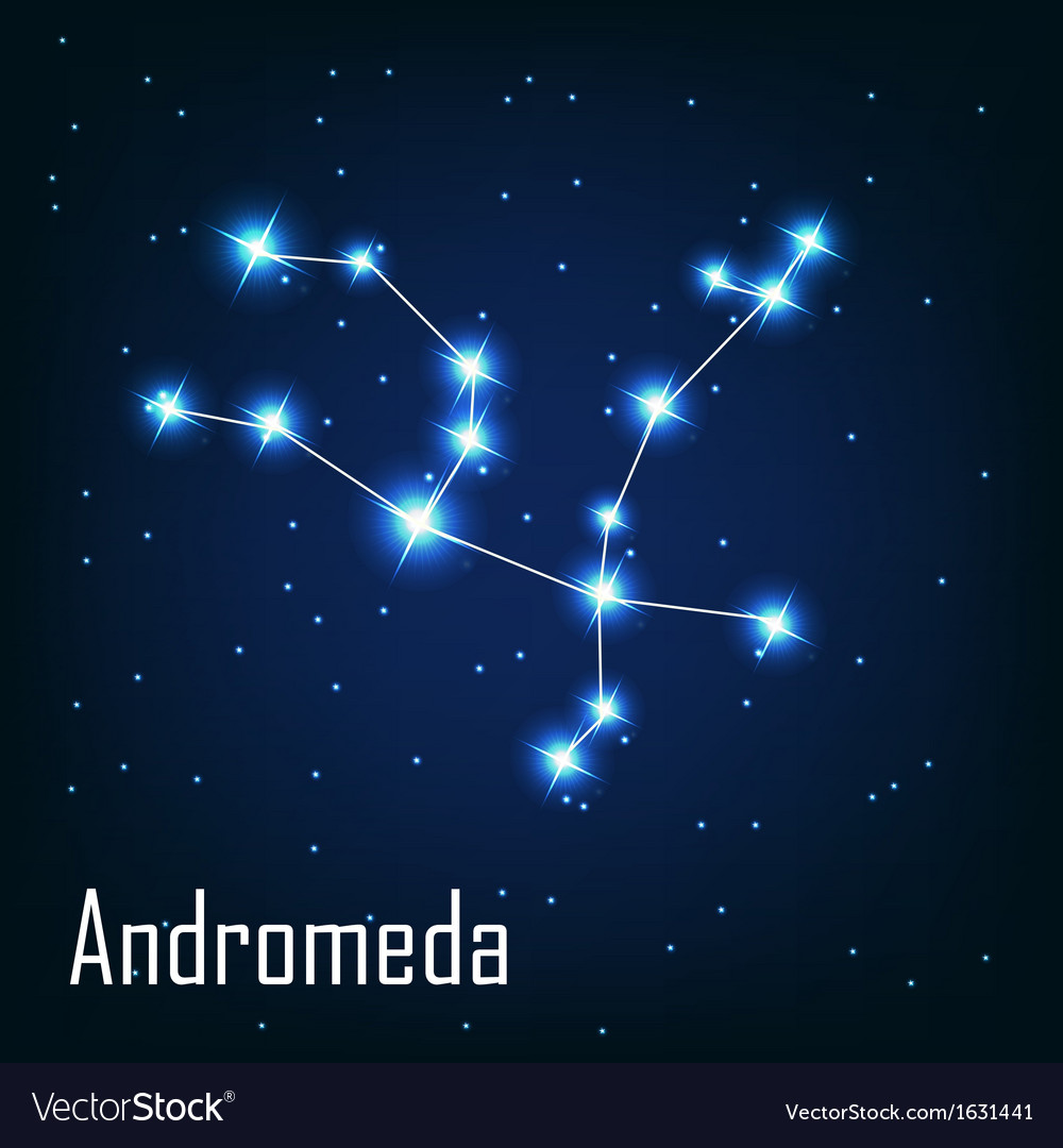 The constellation  andromeda star in the night sky vector | Price: 1 Credit (USD $1)