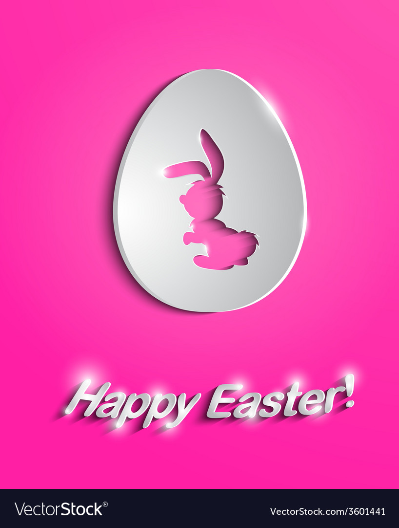Easter egg with bunny silhouette vector | Price: 1 Credit (USD $1)