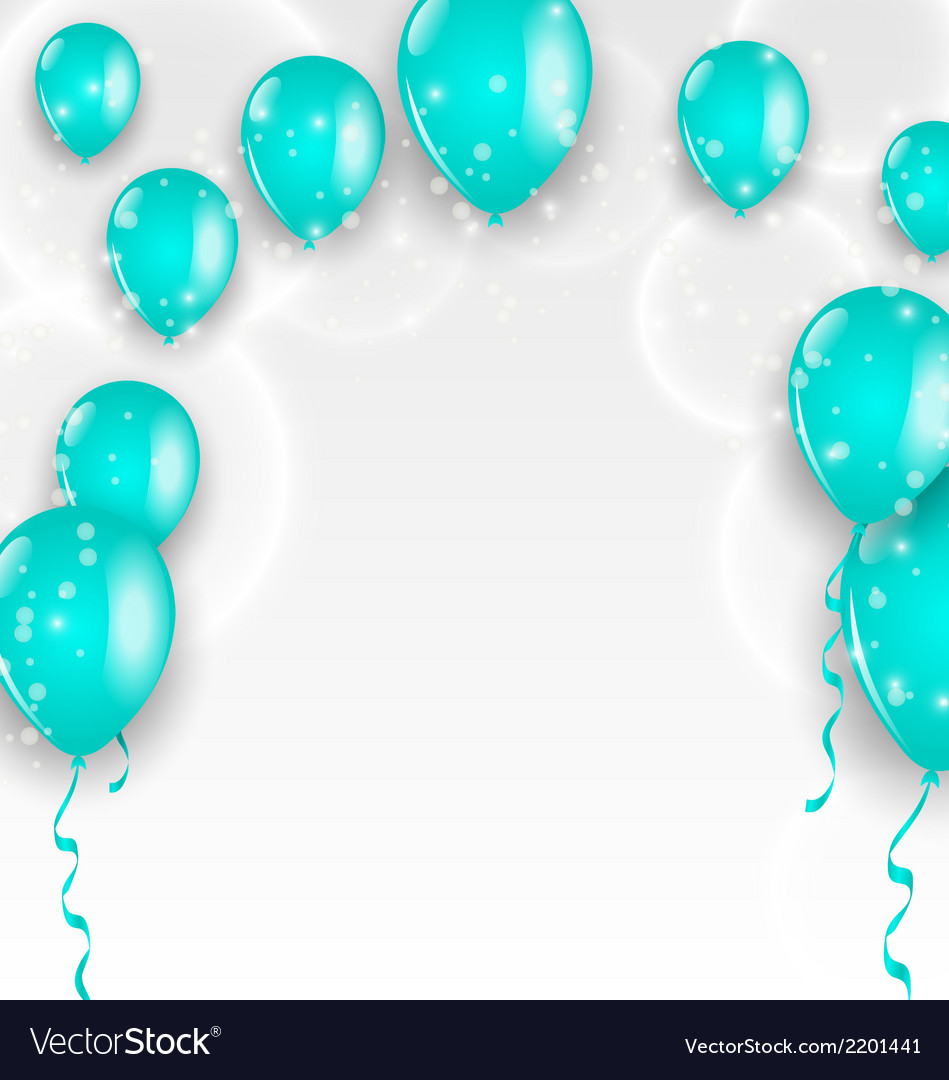 Holiday background with blue balloons vector | Price: 1 Credit (USD $1)