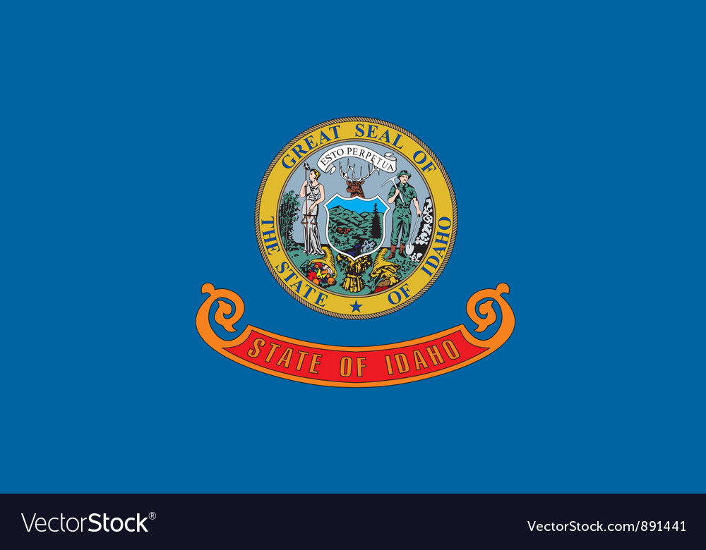 Idaho flag vector | Price: 1 Credit (USD $1)
