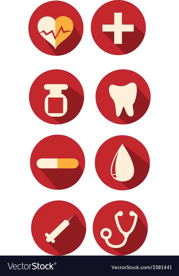 Medical and healthcare icons vector | Price: 1 Credit (USD $1)