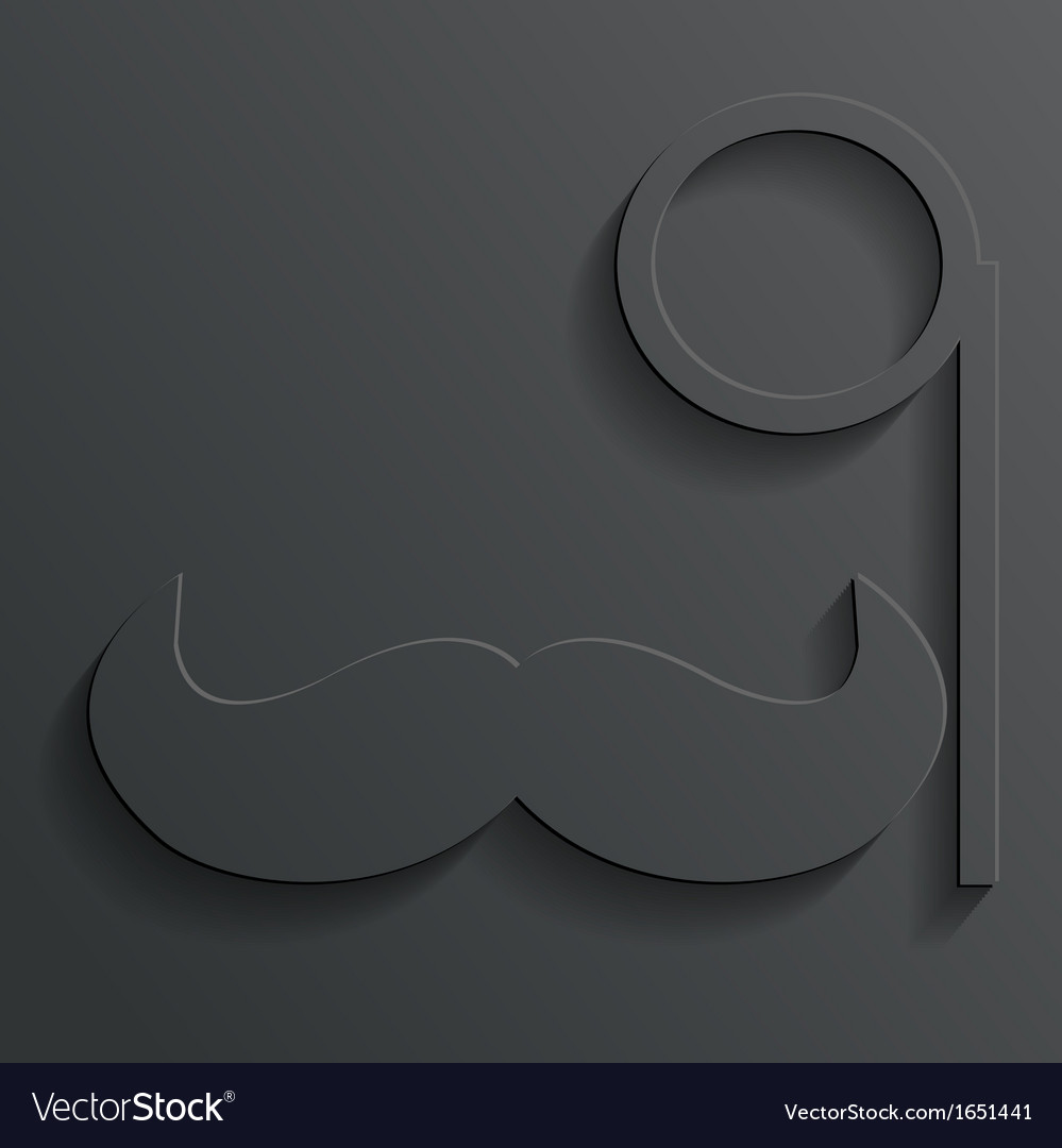 Monocle mustache vector | Price: 1 Credit (USD $1)