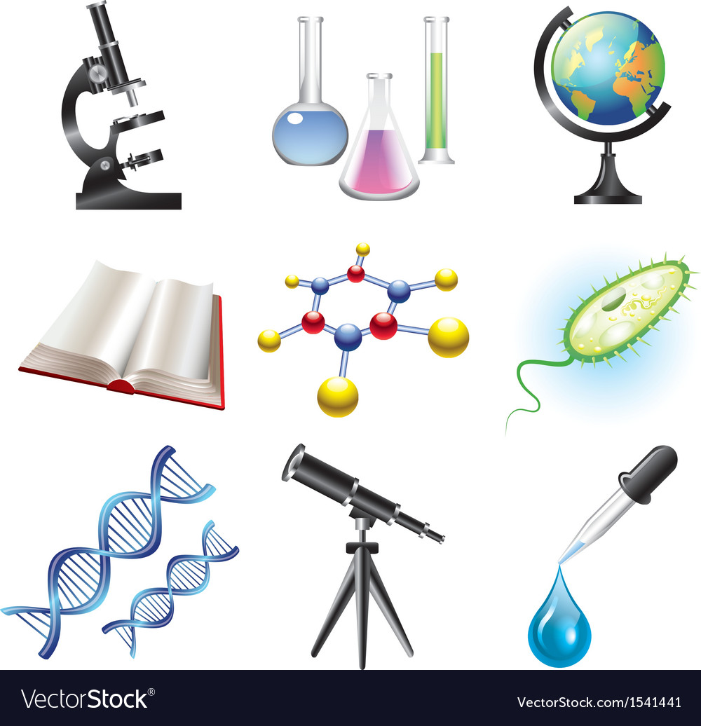 Science set vector | Price: 3 Credit (USD $3)