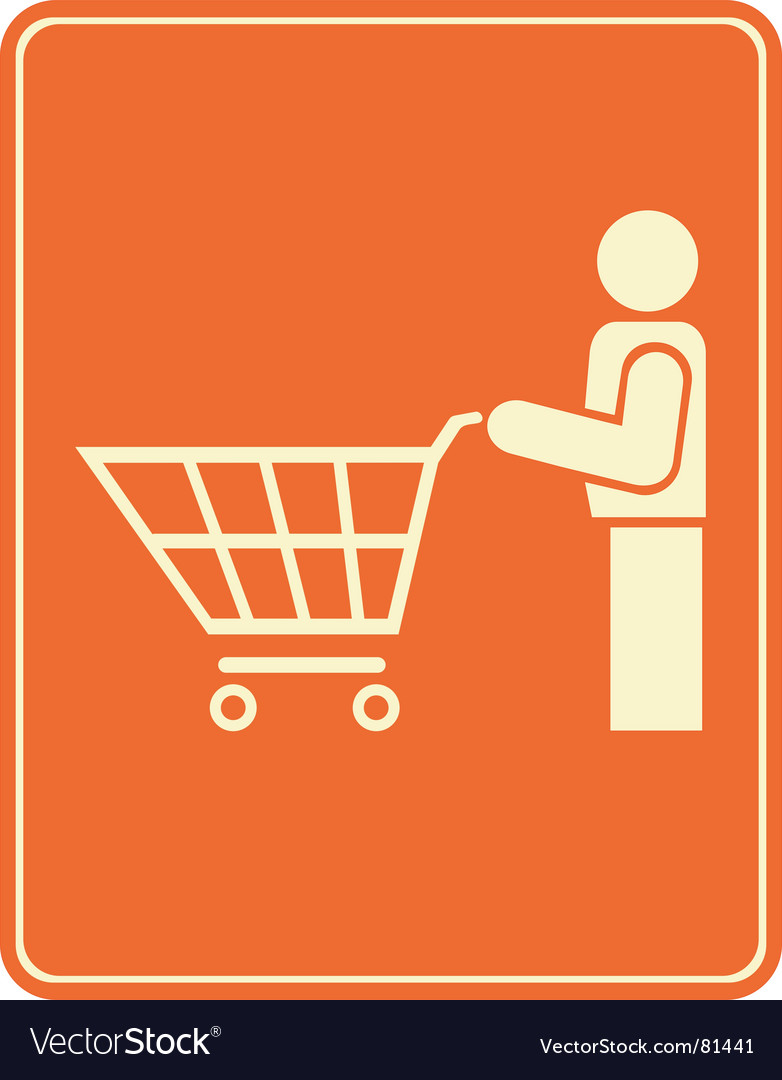Shopping trolley pictogram vector | Price: 1 Credit (USD $1)