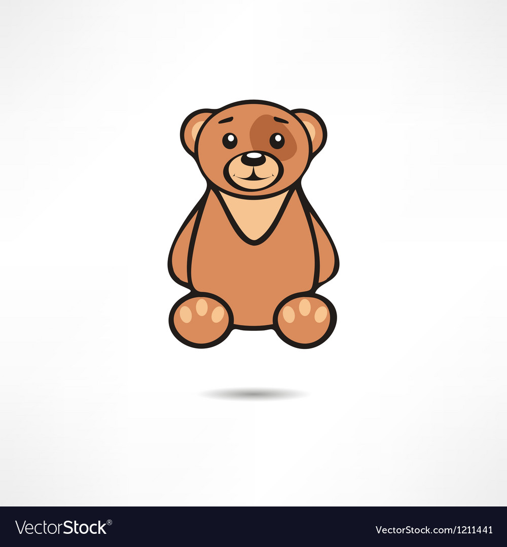 Smiling bear vector | Price: 1 Credit (USD $1)