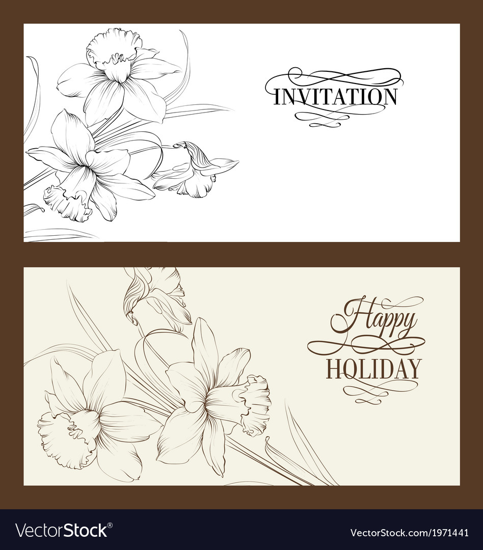 Vintage background ornate card design for greeting vector | Price: 1 Credit (USD $1)