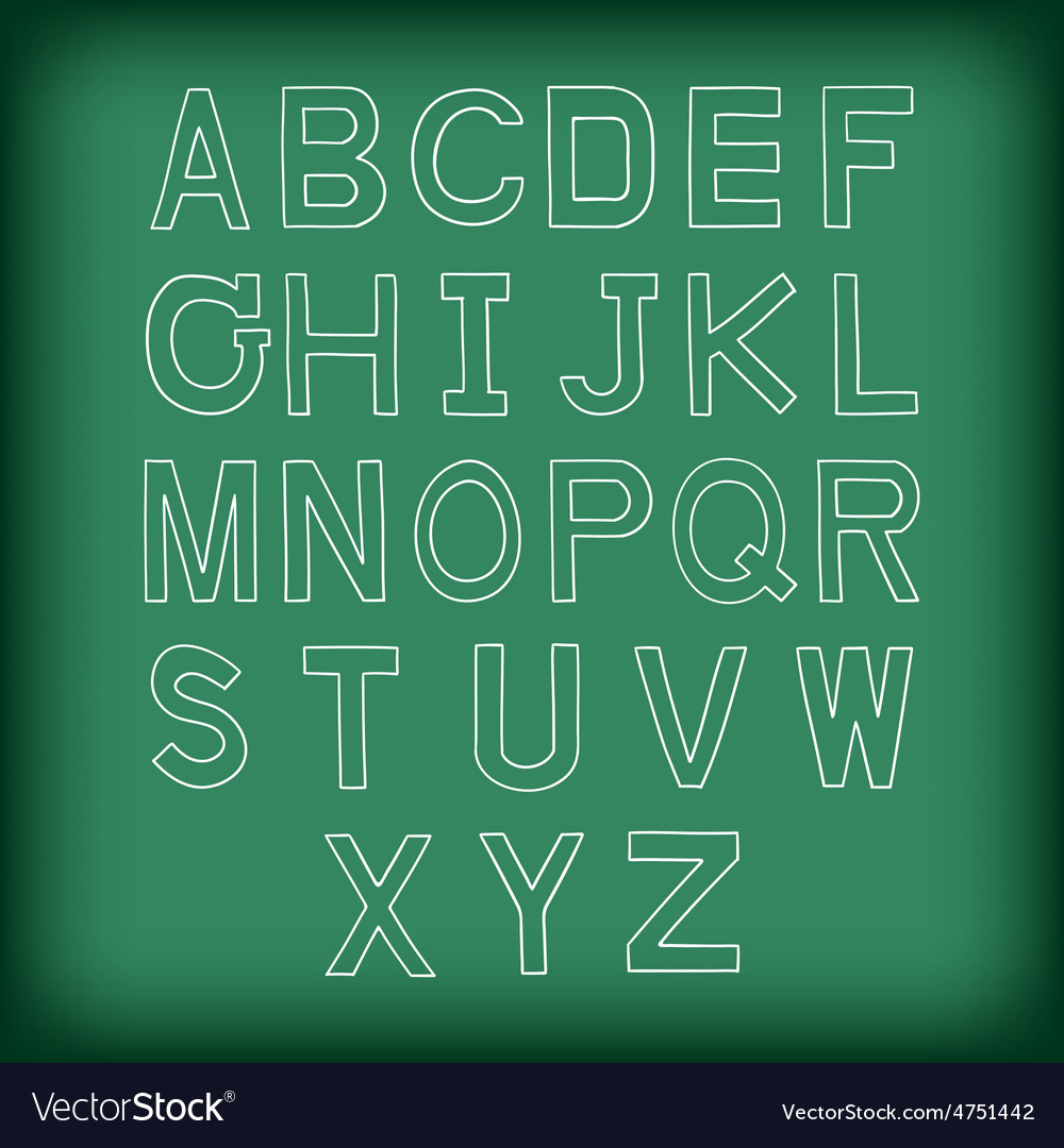 A to z uppercase alphabet handrawn vector | Price: 1 Credit (USD $1)