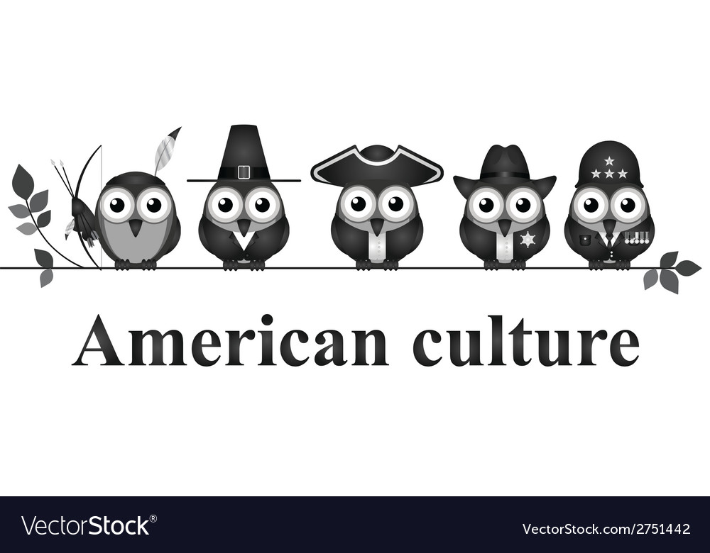 American culture vector | Price: 1 Credit (USD $1)