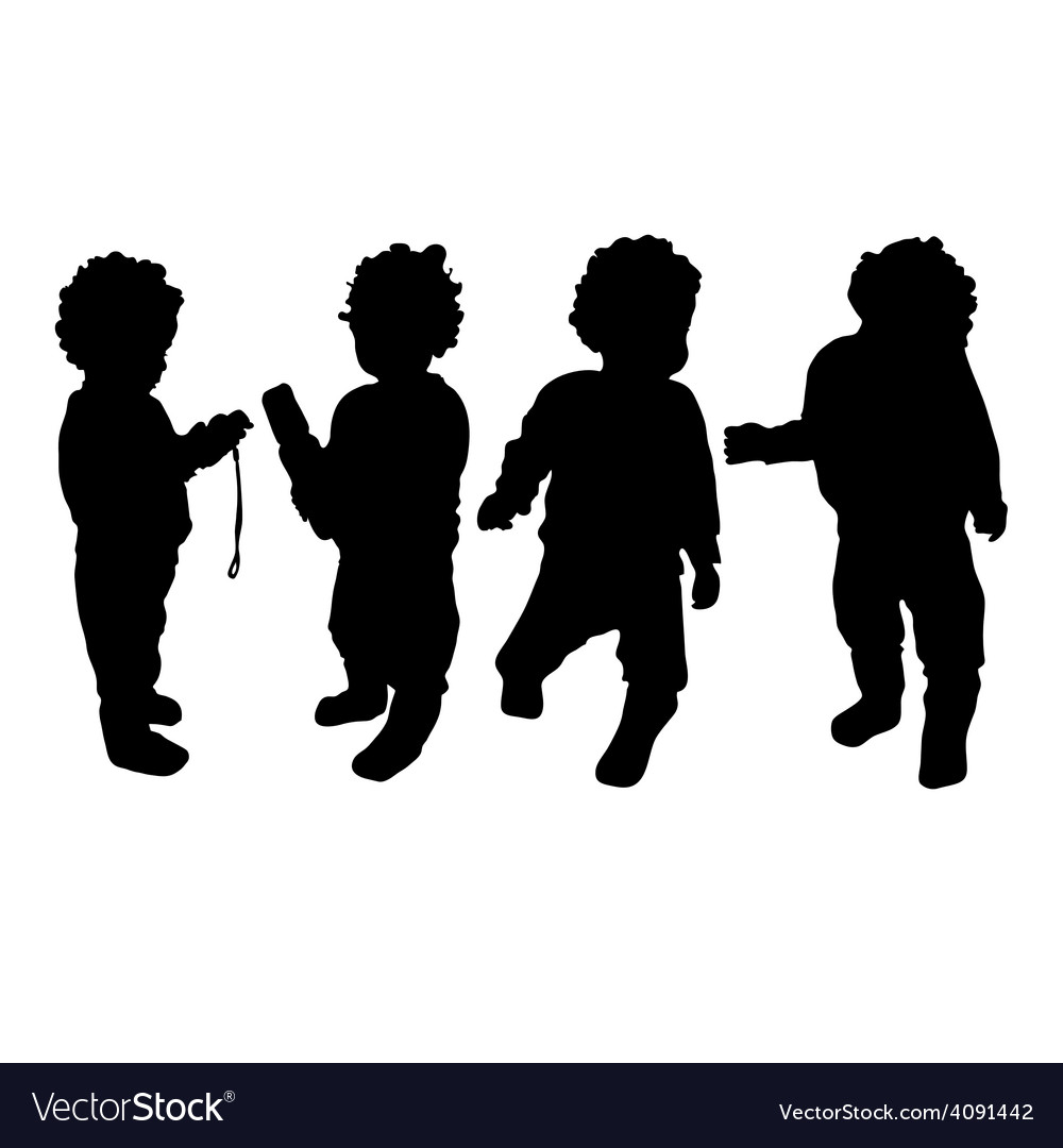 Baby silhouette vector | Price: 1 Credit (USD $1)