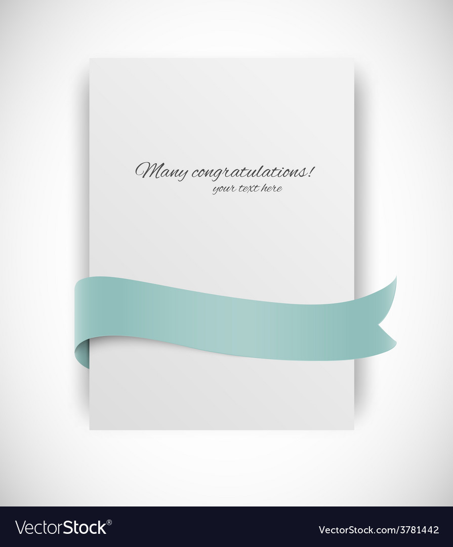 Card with ribbon vector | Price: 1 Credit (USD $1)
