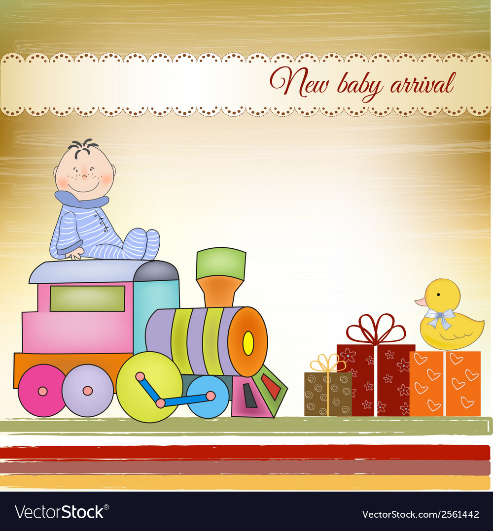 Customizable birthday greeting card with train vector | Price: 1 Credit (USD $1)