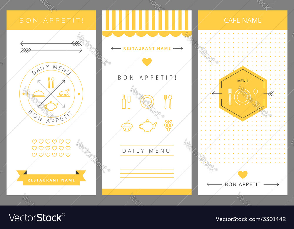 Daily menu design template vector   Price: 1 Credit (USD $1)