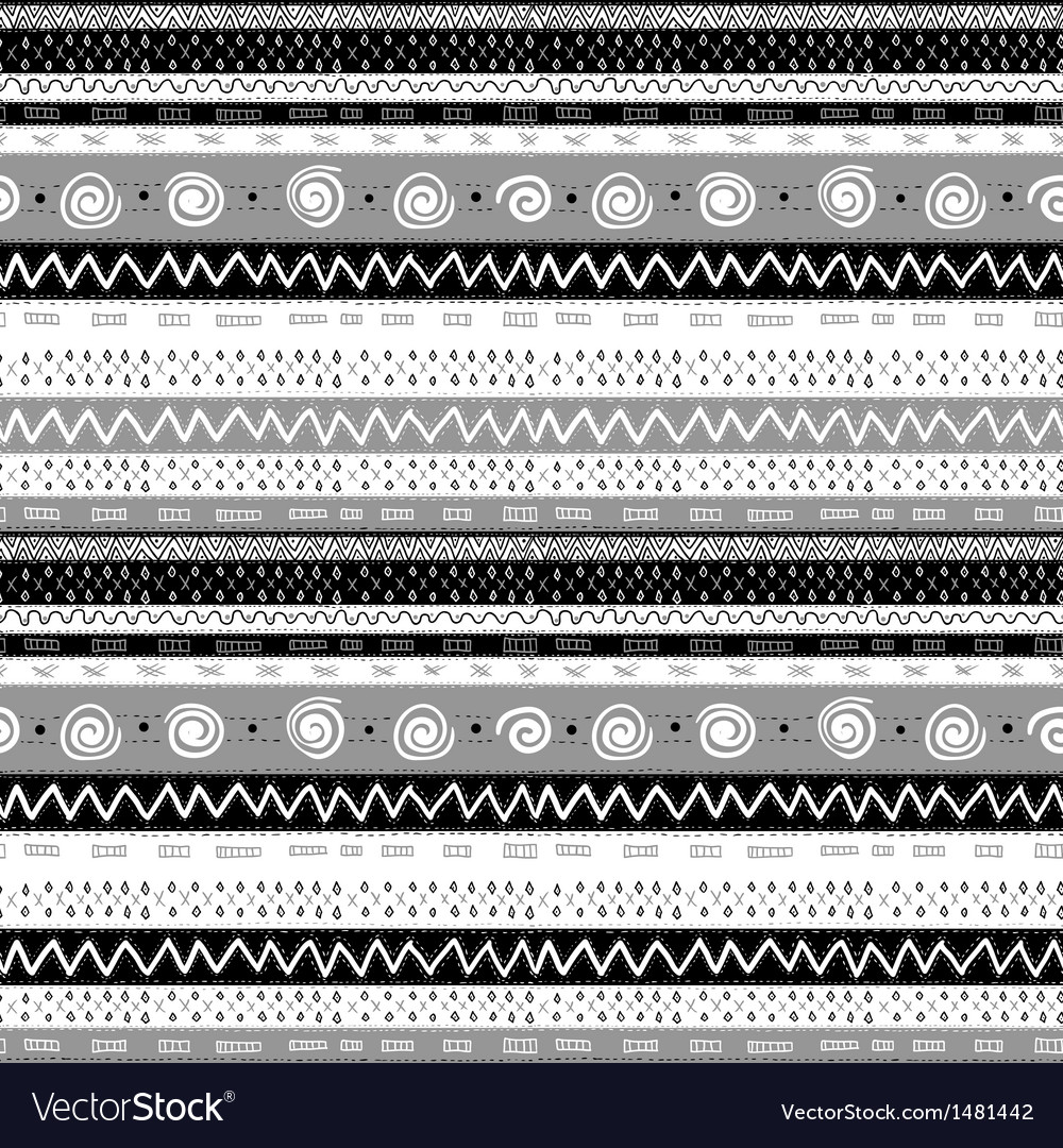 Ethnic african seamless background vector | Price: 1 Credit (USD $1)