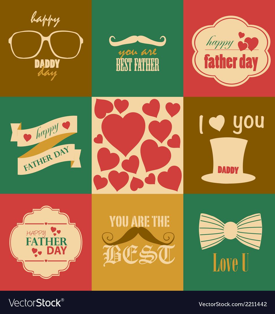 Father day vector | Price: 1 Credit (USD $1)