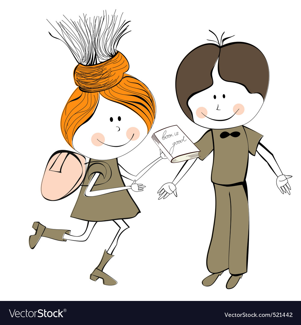 Girl and boy vector | Price: 1 Credit (USD $1)