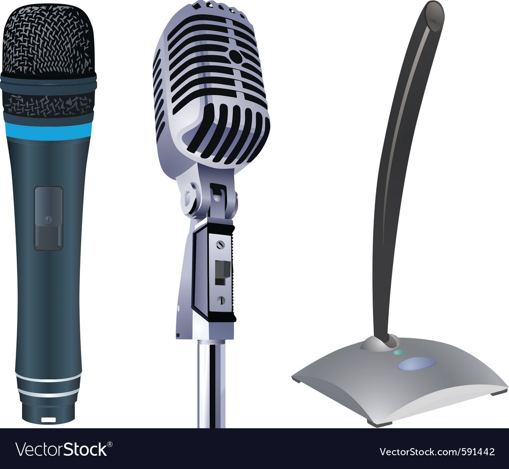 Microphones vector | Price: 1 Credit (USD $1)