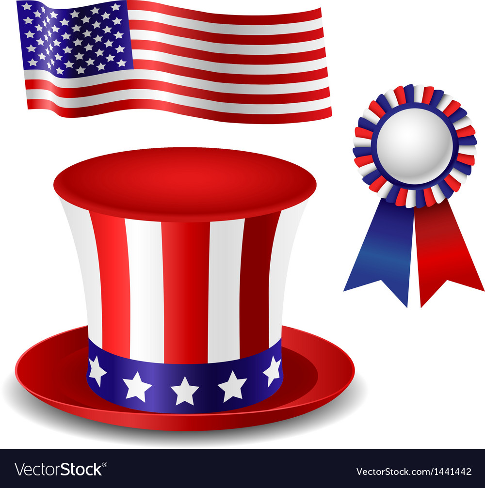 Patriotic item set vector | Price: 1 Credit (USD $1)
