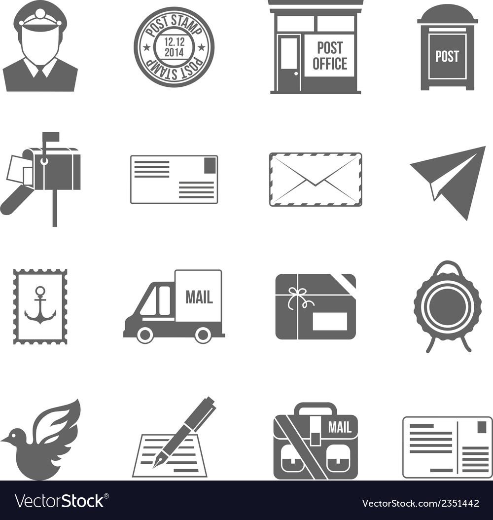 Post service icon black vector | Price: 1 Credit (USD $1)