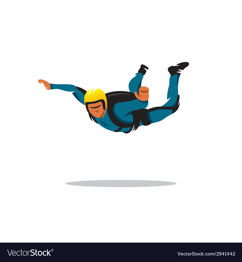 Skydiving sign vector | Price: 1 Credit (USD $1)