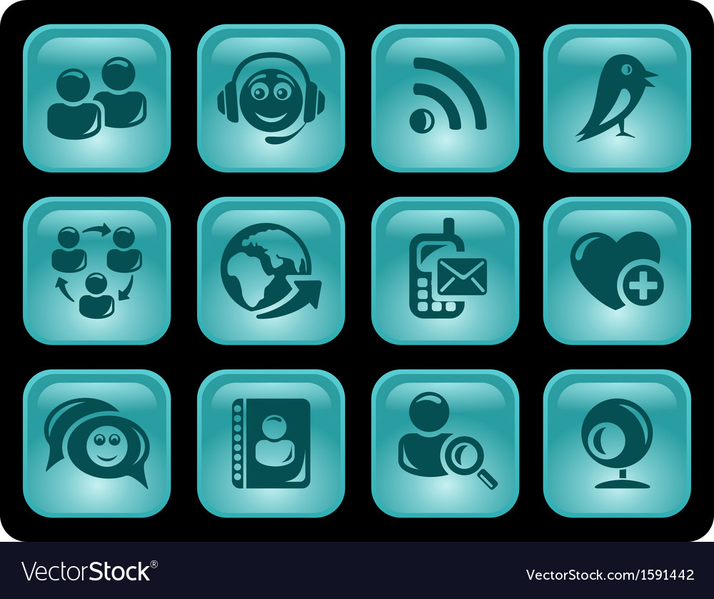 Social network buttons vector   Price: 1 Credit (USD $1)