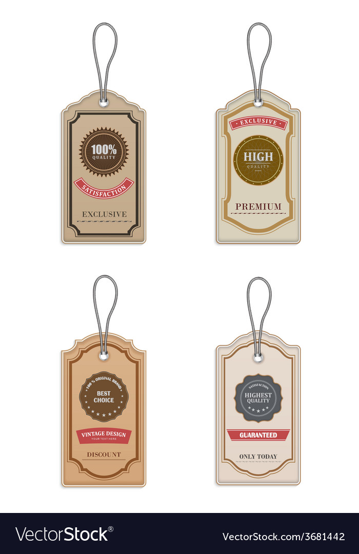 Vintage style sale tags vector   Price: 1 Credit (USD $1)