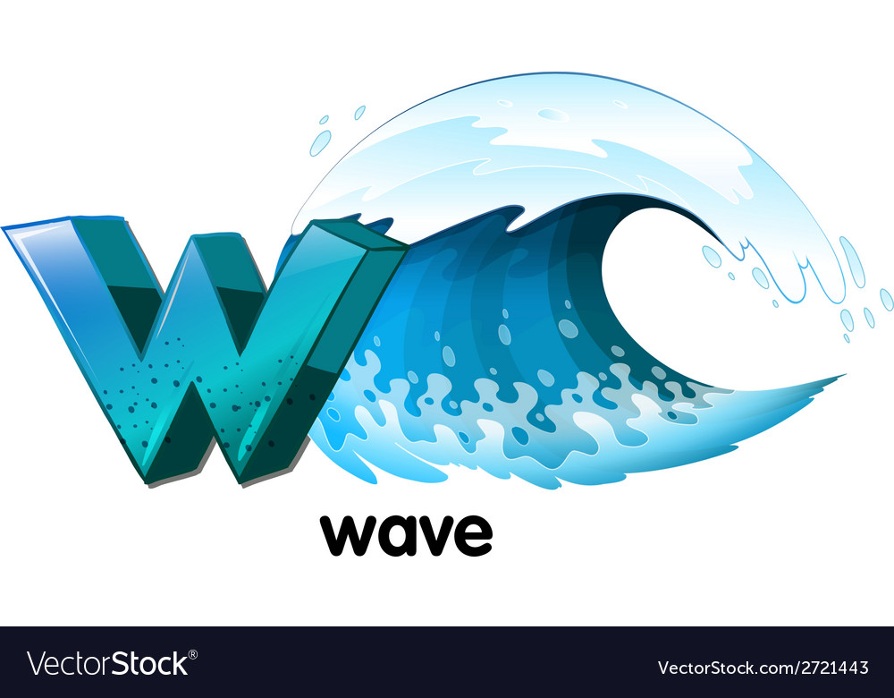 A letter w for wave vector | Price: 1 Credit (USD $1)