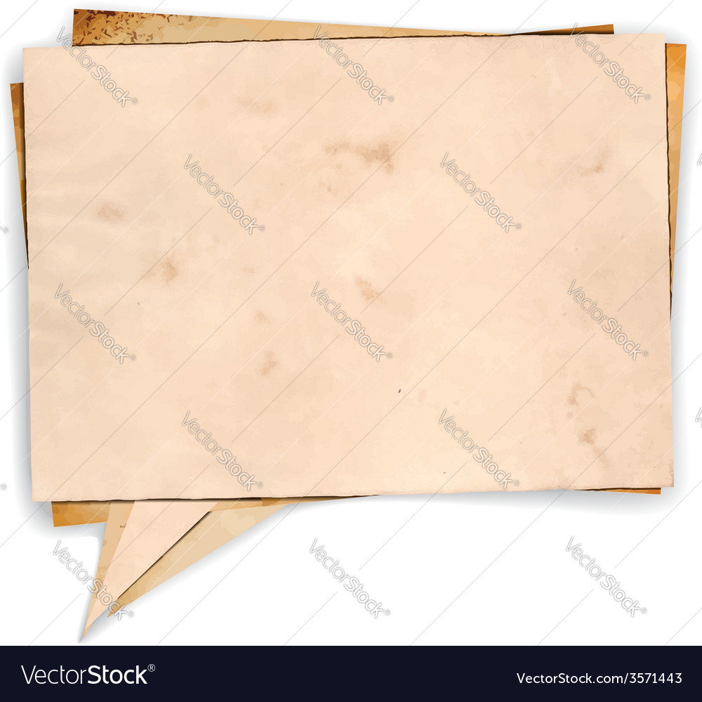 Aged paper speech bubble vector | Price: 1 Credit (USD $1)