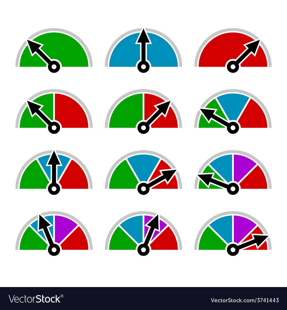 Color indicator diagram set template design vector | Price: 1 Credit (USD $1)