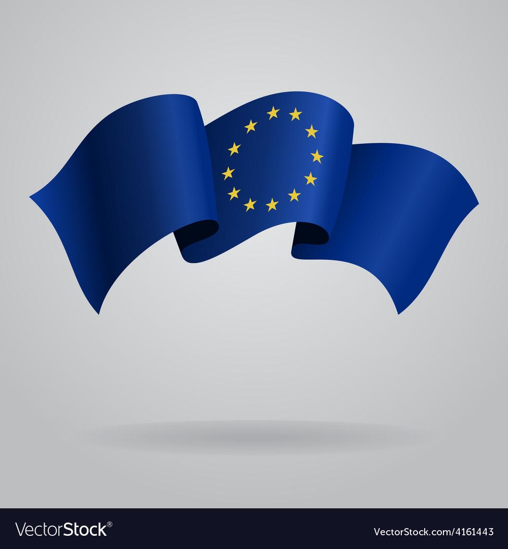 European union waving flag vector | Price: 3 Credit (USD $3)