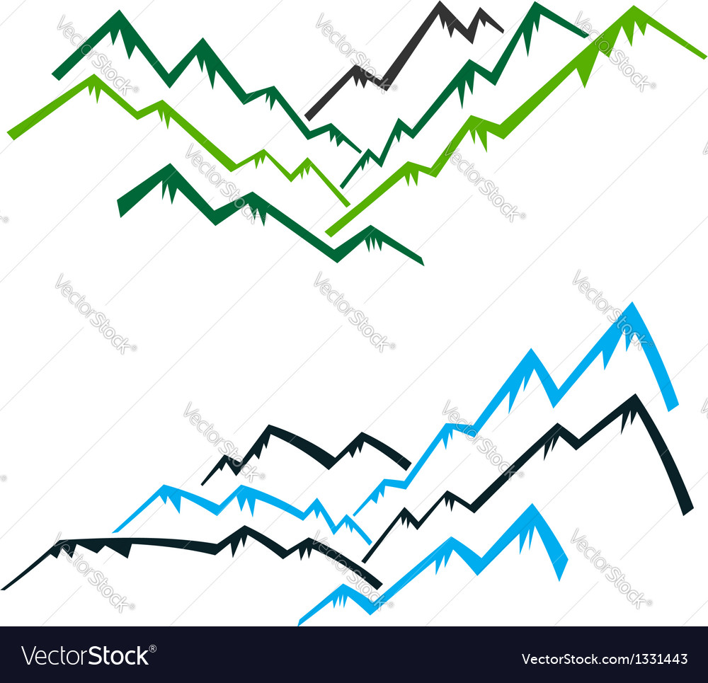 Group of mountains vector | Price: 1 Credit (USD $1)